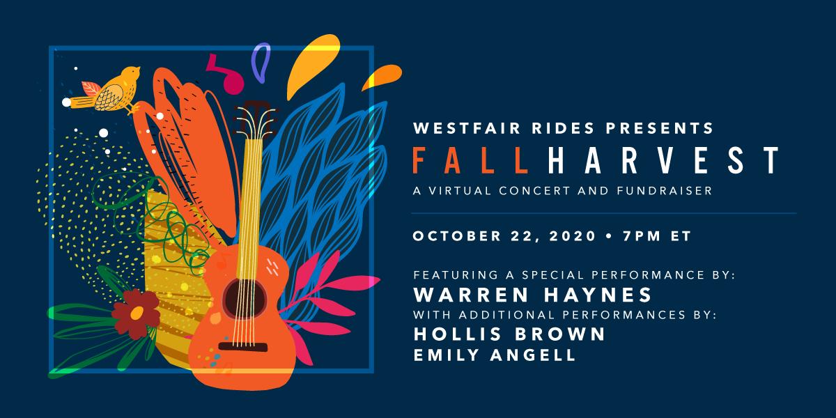 More Info for Livestream: WestFair Rides Fall Harvest Fundraiser ft. Warren Haynes, Hollis Brown + Emily Angell