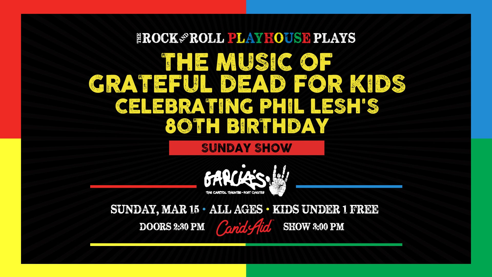 More Info for Music of Grateful Dead for Kids Celebrating Phil Lesh's 80th Birthday