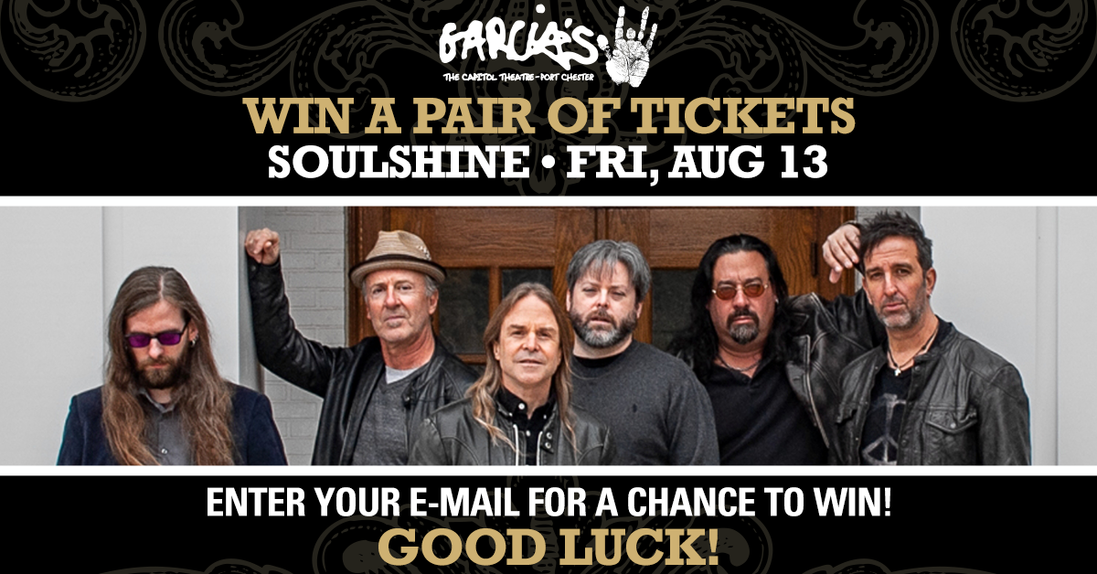 More Info for Enter to Win a Pair of Tickets to SoulShine at Garcia's on FRI, AUG 13