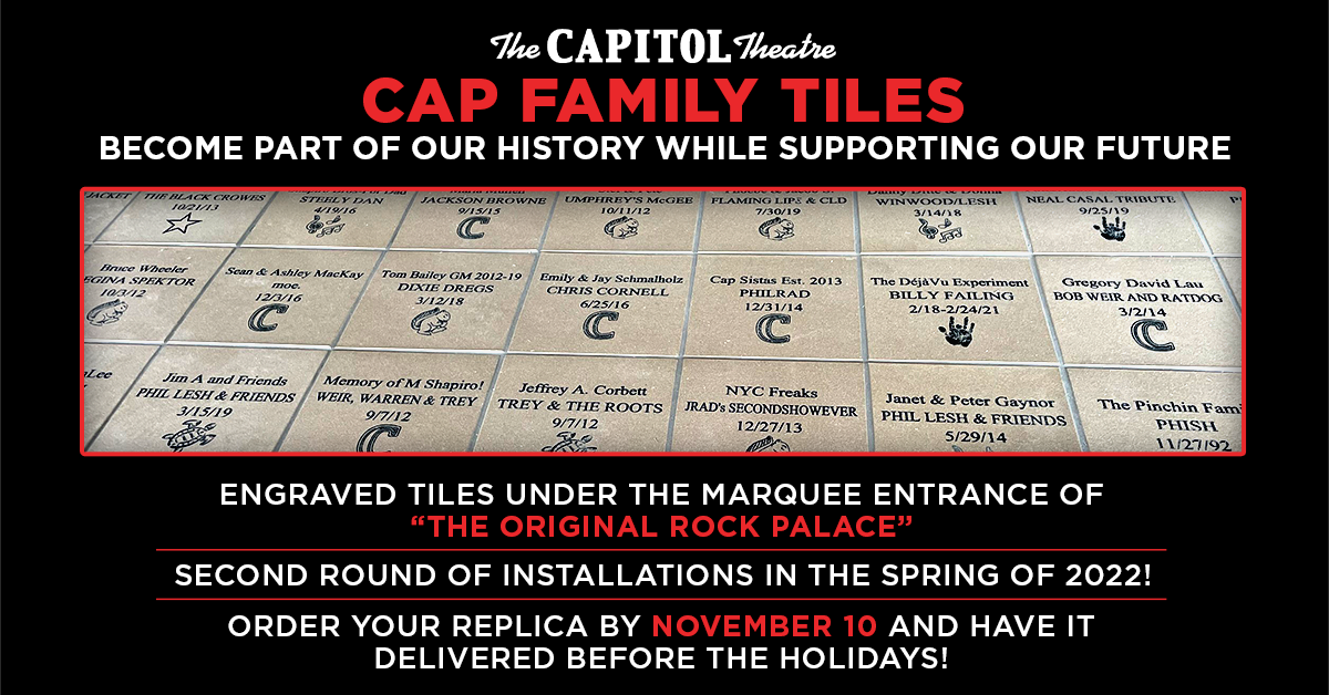"""More Info for Have Your Own """"Cap Family Tile"""" Under Our Marquee!"""